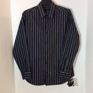Access Shirt Black Silver Long Sleeve XL. NWT